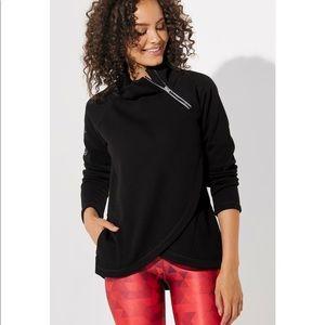 Peloton Side Zip Patch Sweatshirt NWOT